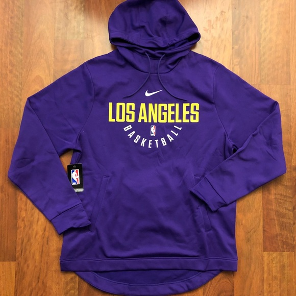Nike Los Angeles Lakers Pullover Hoodie Large 5a3391171dd0